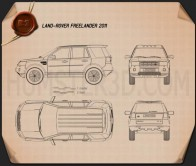Land Rover Freelander 2 (LR2) Blueprint