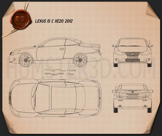 Lexus IS C (XE20) 2012 Blueprint