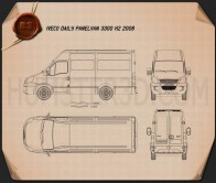 Iveco Daily Panel Van 3300 H2 2008 Blueprint