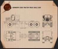 Kenworth C500 Tractor Truck 2001 Blueprint