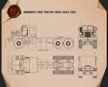 Kenworth C500 Tractor Truck 2001 Blueprint