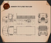 Kenworth T170 Flatbed Truck 2009 Blueprint
