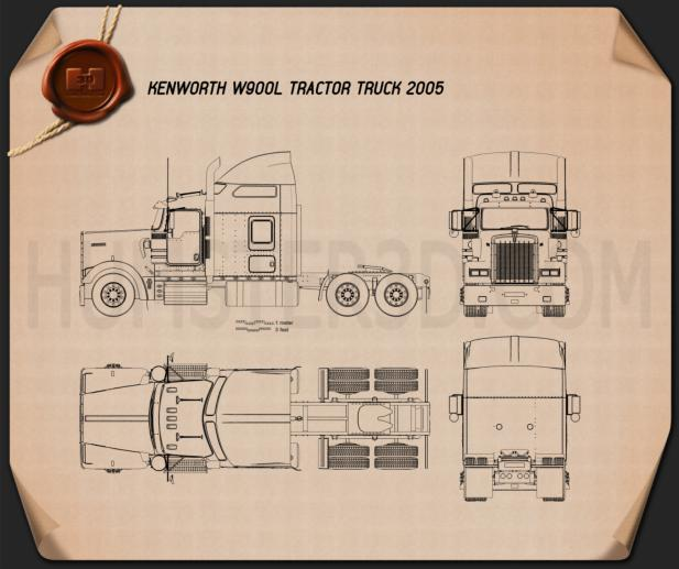 Flatbed Tow Truck >> Kenworth blueprint Download - Hum3D