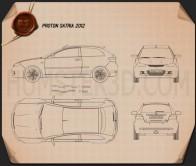 Proton Satria 2012 Blueprint