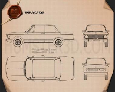 BMW 2002 1968 Blueprint