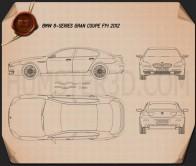 BMW 6 Series Gran Coupe (F14) 2012 Blueprint