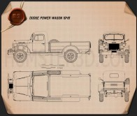 Dodge Power Wagon 1946 Blueprint