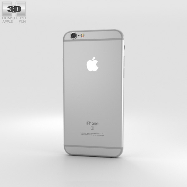apple iphone 6s silver 3d model hum3d. Black Bedroom Furniture Sets. Home Design Ideas