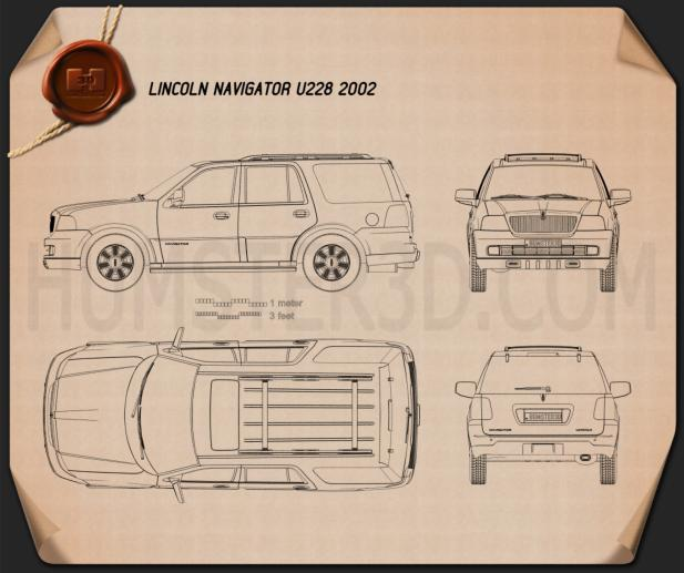 Lincoln Navigator (U228) 2003 Blueprint