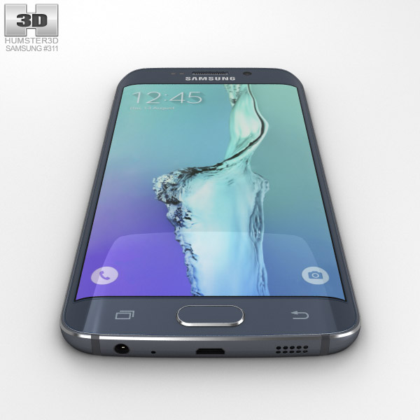 4c9ec467e16 Samsung Galaxy S6 Edge Plus Black Sapphire 3D model - Electronics on ...