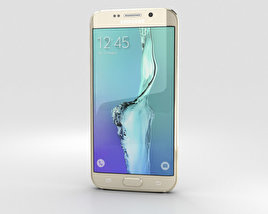 Samsung Galaxy S6 Edge Plus Gold Platinum 3D model