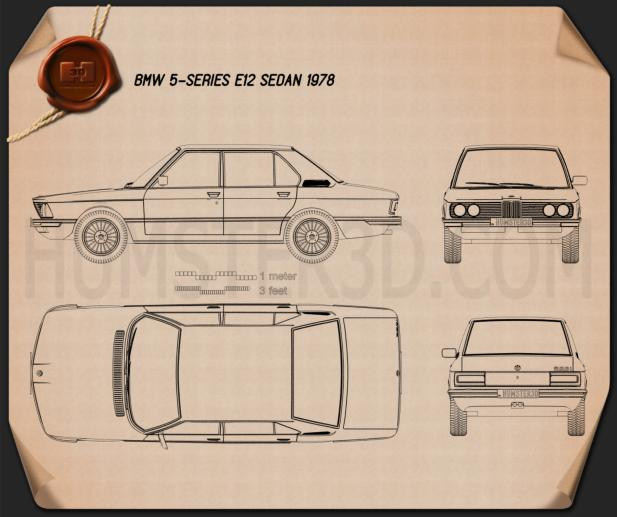BMW 5 Series sedan (E12) 1978  Blueprint