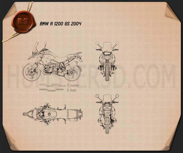 BMW R1200GS 2004 Blueprint