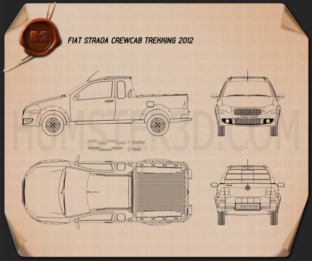 Fiat Strada Crew Cab Trekking 2012 Blueprint