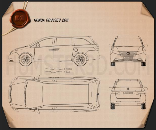 Honda Odyssey 2011 Blueprint