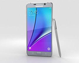 Samsung Galaxy Note 5 Silver Titan 3D model