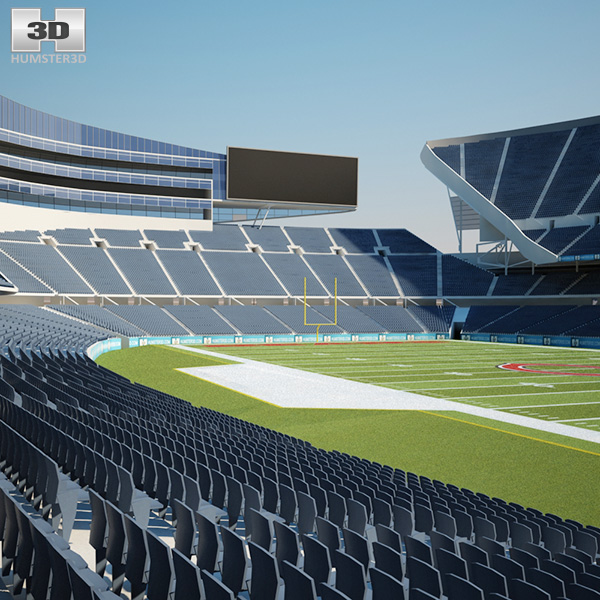 Stadium Lights C4d: Soldier Field 3D Model