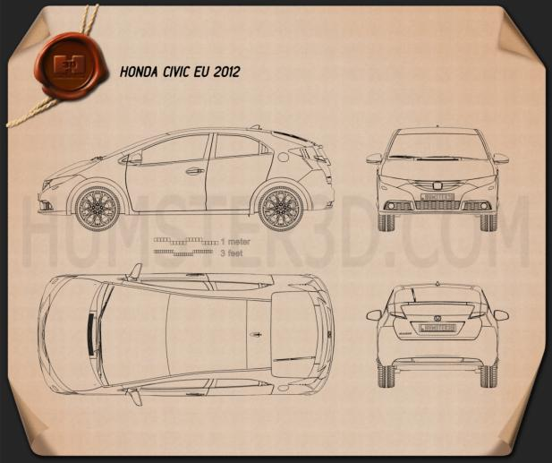 Honda Civic EU 2012 Blueprint