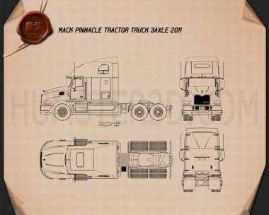 Mack Pinnacle Tractor Truck 2011 Blueprint