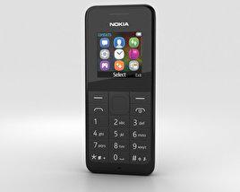 Nokia 105 Dual SIM Black 3D model