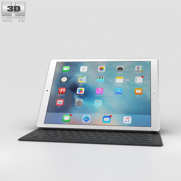 Apple ipad pro 12 9 inch silver 3d model hum3d for Architecture 3d ipad