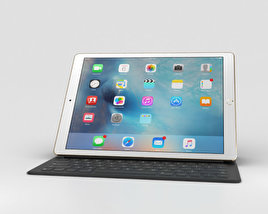 Apple iPad Pro 12.9-inch Gold 3D model