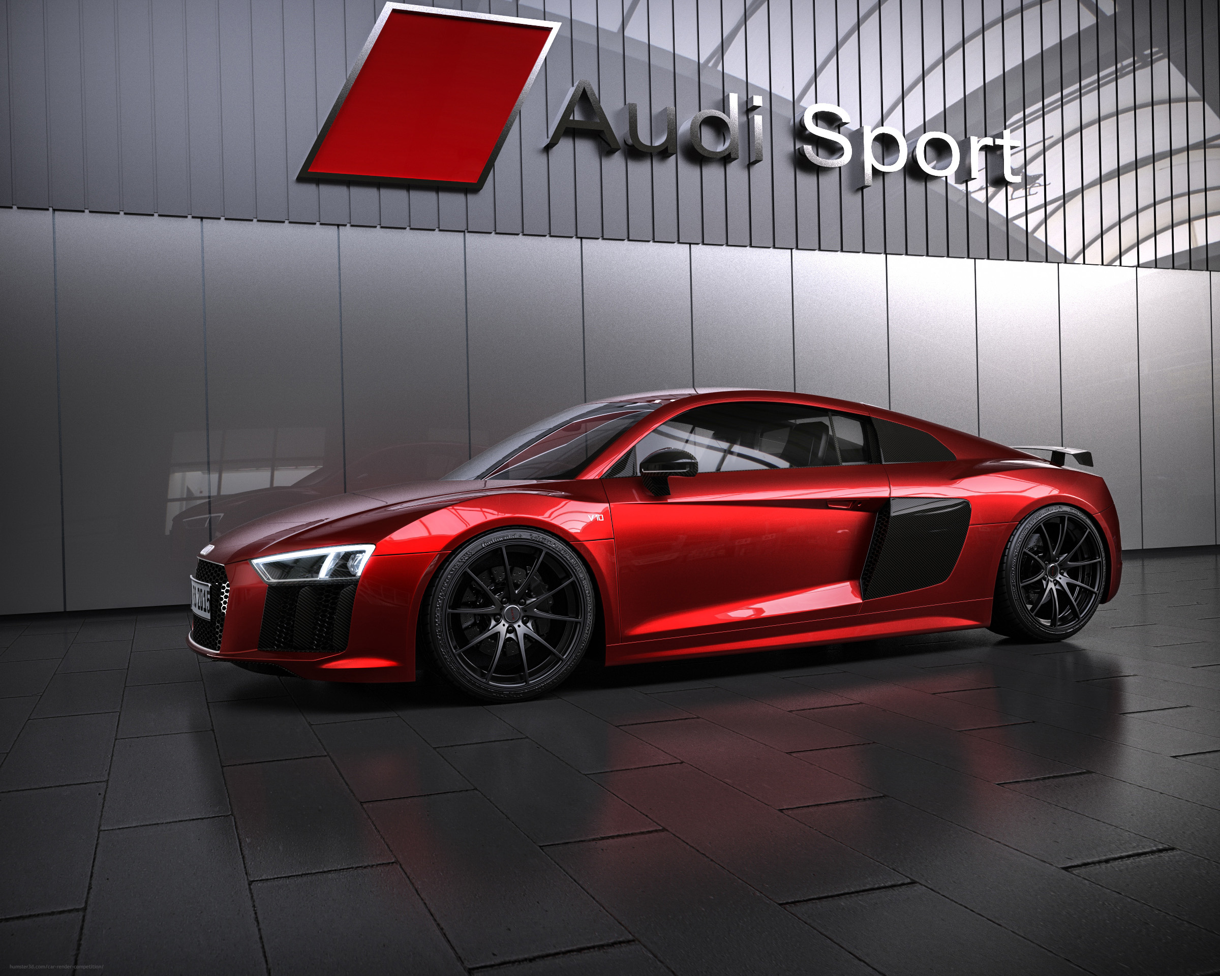 Audi R8 inspired by ABT 3d art