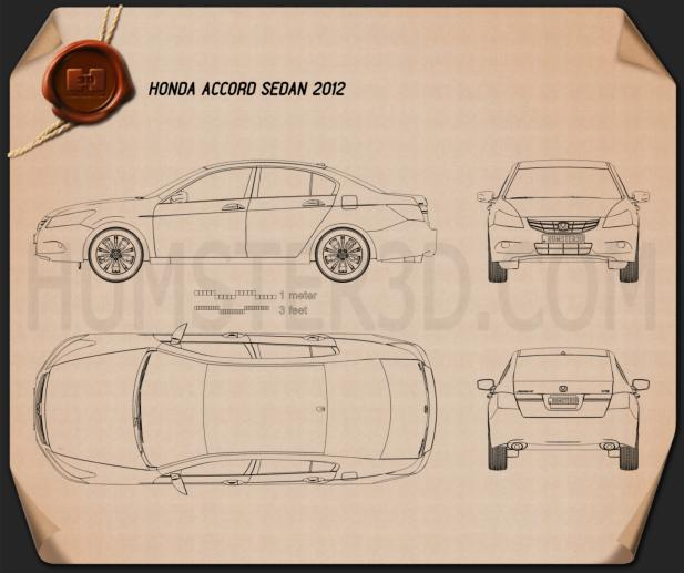 Honda Accord Sedan 2012 Blueprint