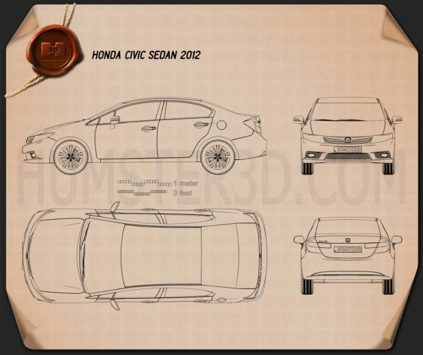 Honda Civic Sedan 2012 Blueprint