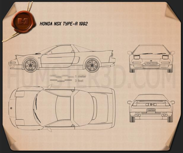 Honda NSX Type-R 1992 Blueprint