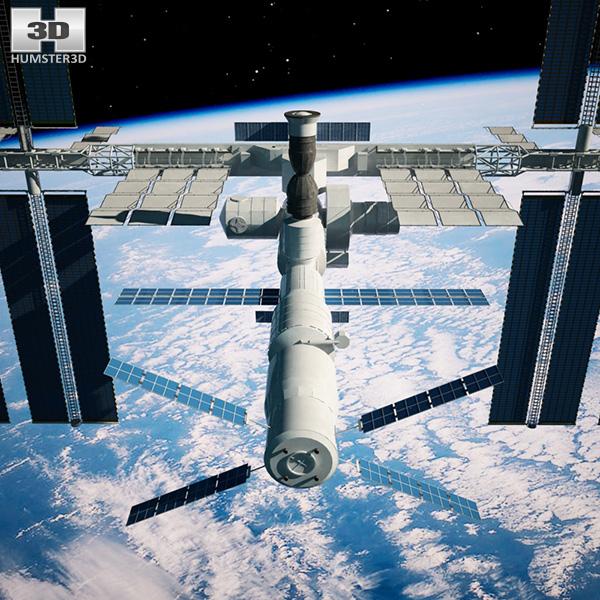 International Space Station 3D model - Hum3D