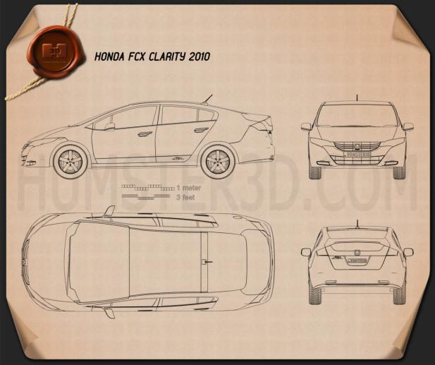 Honda FCX Clarity 2010 Blueprint