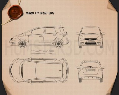 Honda Fit (Jazz) Sport 2012 Blueprint