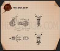 Honda Super-Cub 1971 Blueprint