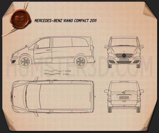 Mercedes-Benz Viano Compact Blueprint
