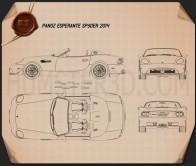 Panoz Esperante Spyder 2015 Blueprint