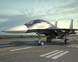 Sukhoi Su-34 3D model