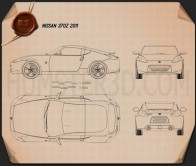 Nissan 370Z Coupe 2009 Blueprint