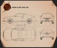 Nissan Altima coupe 2012 Blueprint