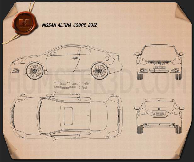Nissan Altima coupe 2012 Blueprint