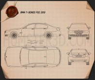 BMW 7 Series (F02) 2013 Blueprint