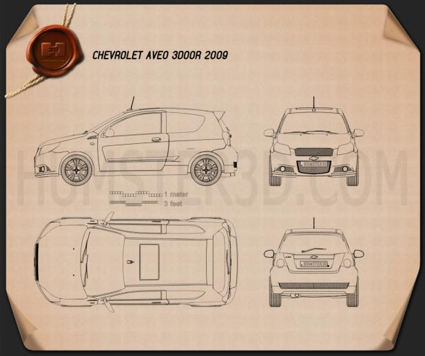Chevrolet Aveo 3door 2009 Blueprint