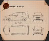 Chevrolet Orlando 2011 Blueprint