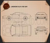 Lamborghini Jalpa P350 1984 Blueprint