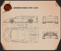 Lamborghini Veneno 2013 Blueprint