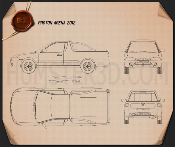 Proton Arena (Jumbuck) 2010 Blueprint - Hum3D