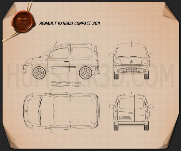 Renault Kangoo Compact 2011 Blueprint