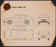 Renault Symbol 2010 Blueprint