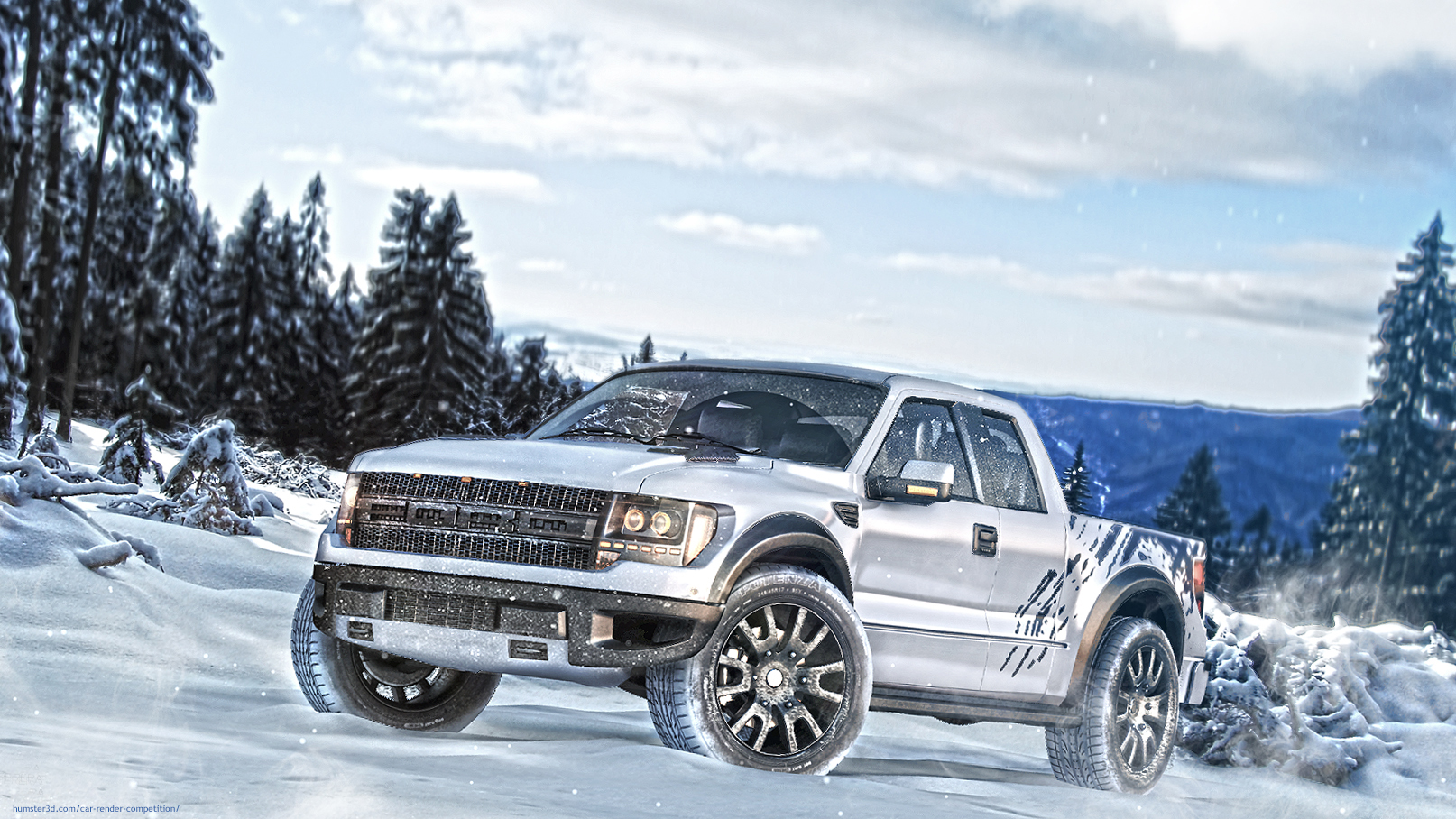 Ford F-150 SVT Raptor 3d art