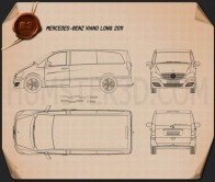 Mercedes-Benz Viano Long 2011 Blueprint
